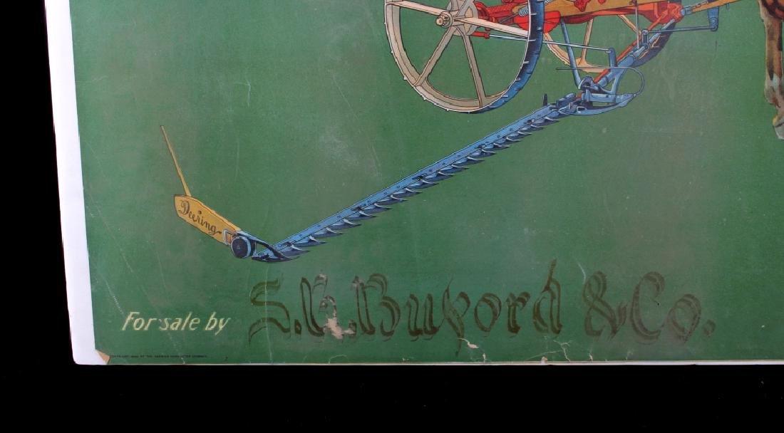 Original 1900 Deering Harvester Advertising Poster - 5