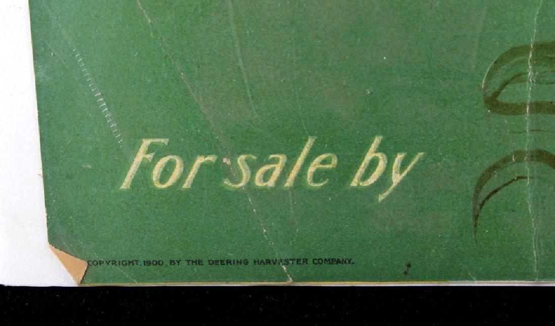 Original 1900 Deering Harvester Advertising Poster - 7