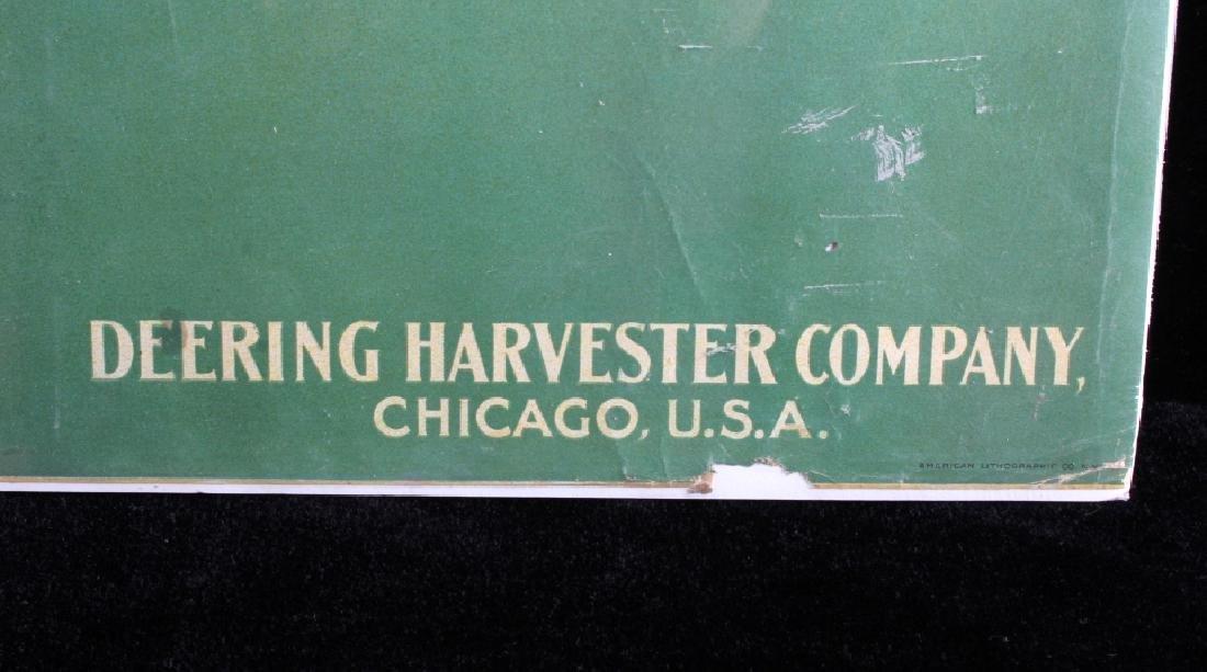 Original 1900 Deering Harvester Advertising Poster - 8