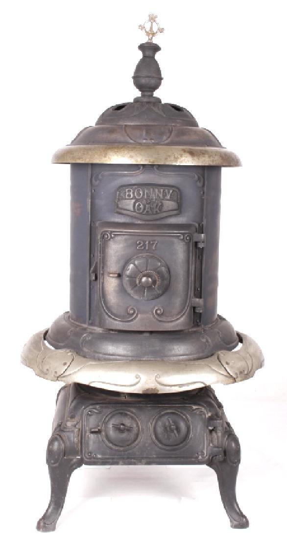 Bonny Oak #217 Cylinder Wood Burning Parlor Stove