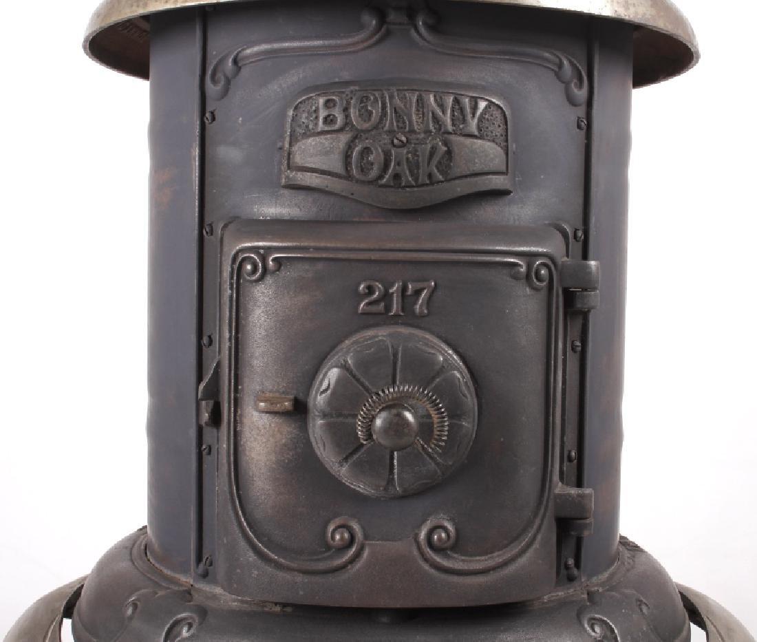 Bonny Oak #217 Cylinder Wood Burning Parlor Stove - 2