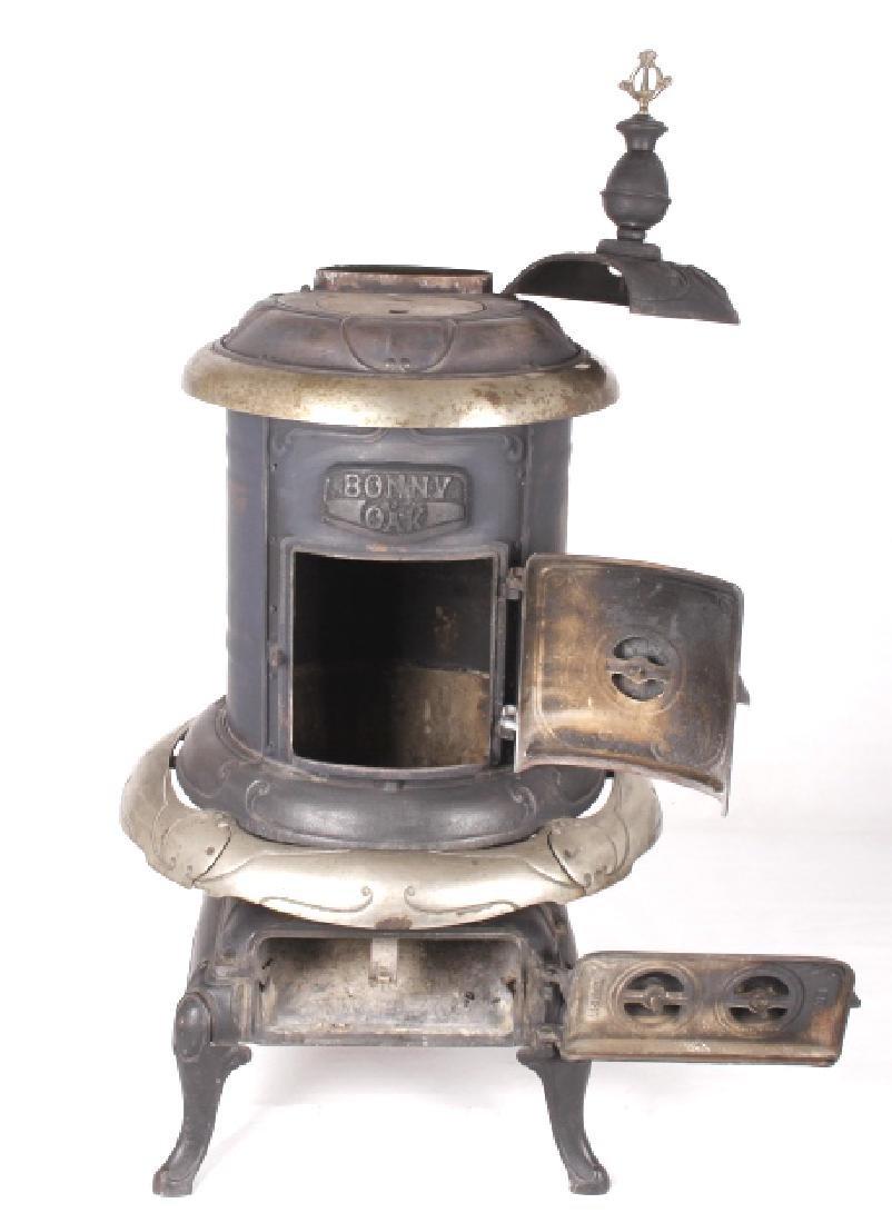 Bonny Oak #217 Cylinder Wood Burning Parlor Stove - 9