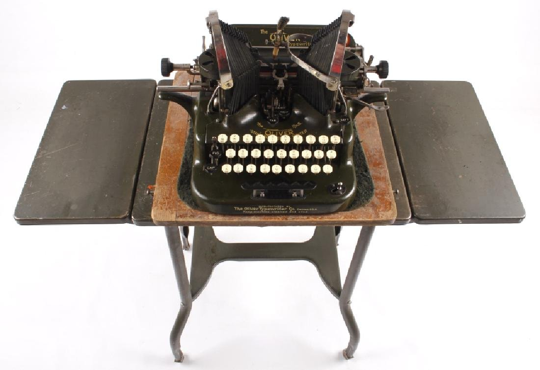 "Oliver No. 5 ""Fiver"" Typewriter w/ Table c.1913"