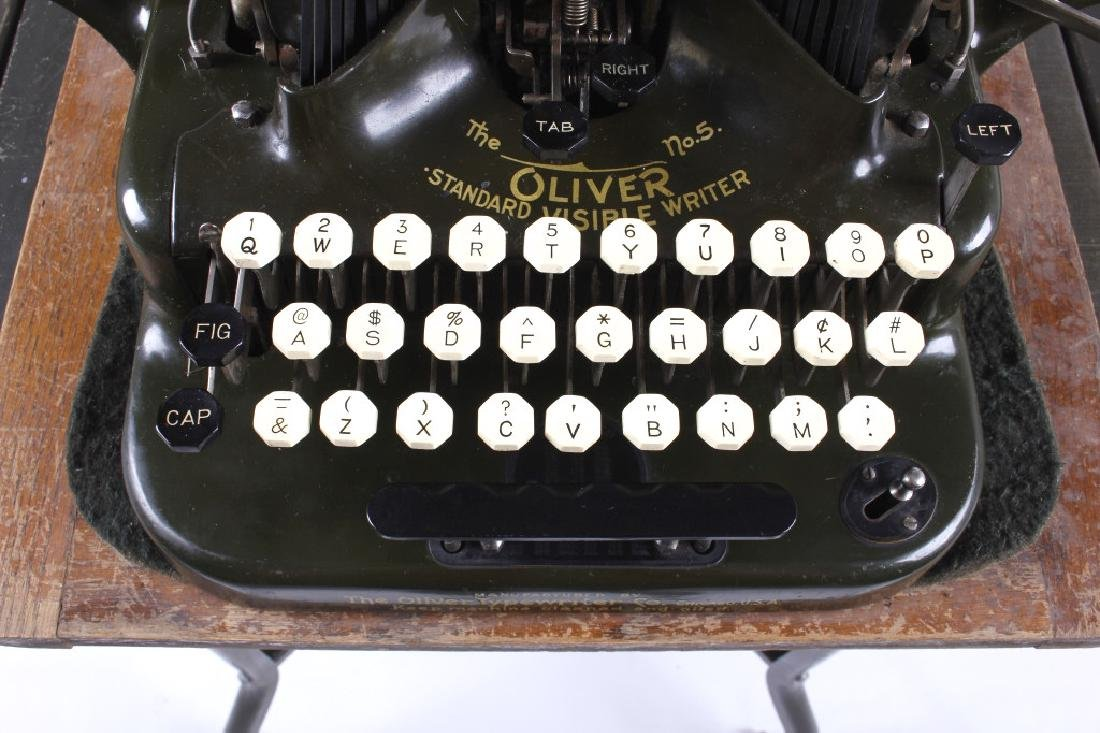 "Oliver No. 5 ""Fiver"" Typewriter w/ Table c.1913 - 8"