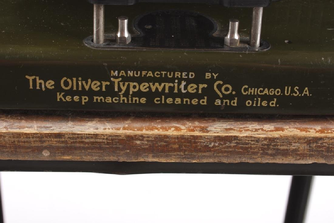 "Oliver No. 5 ""Fiver"" Typewriter w/ Table c.1913 - 9"