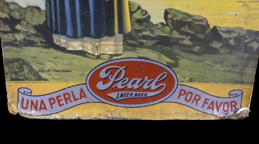 Pearl Lager Beer Lithograph Advertisement c1947-51 - 2