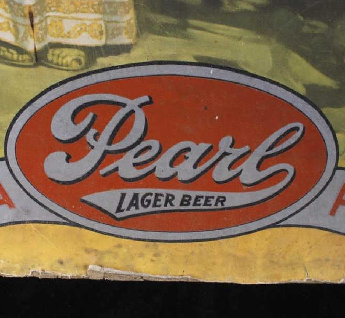 Pearl Lager Beer Lithograph Advertisement c1947-51 - 3
