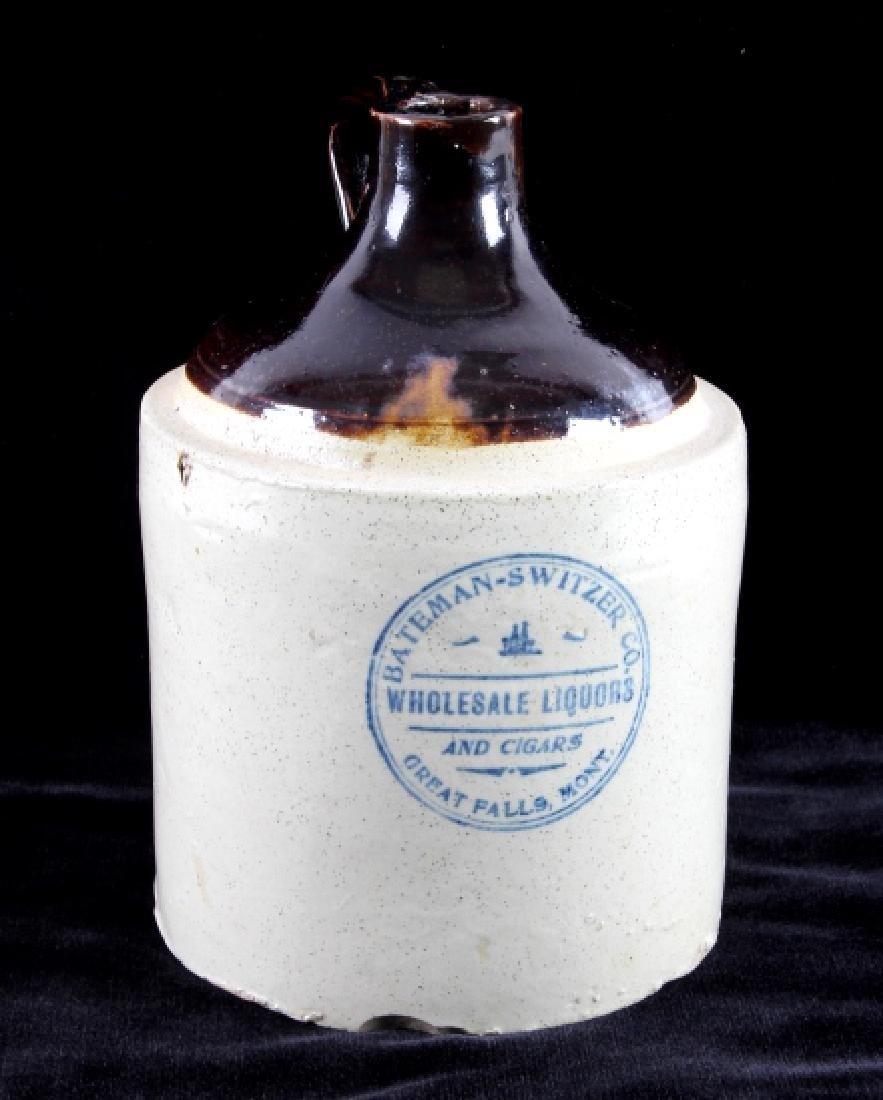 Original Great Falls Montana Whiskey Crock Jug