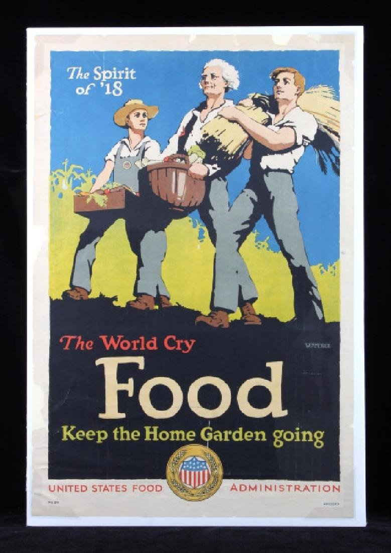 Original WWI U.S. Food Administration Poster