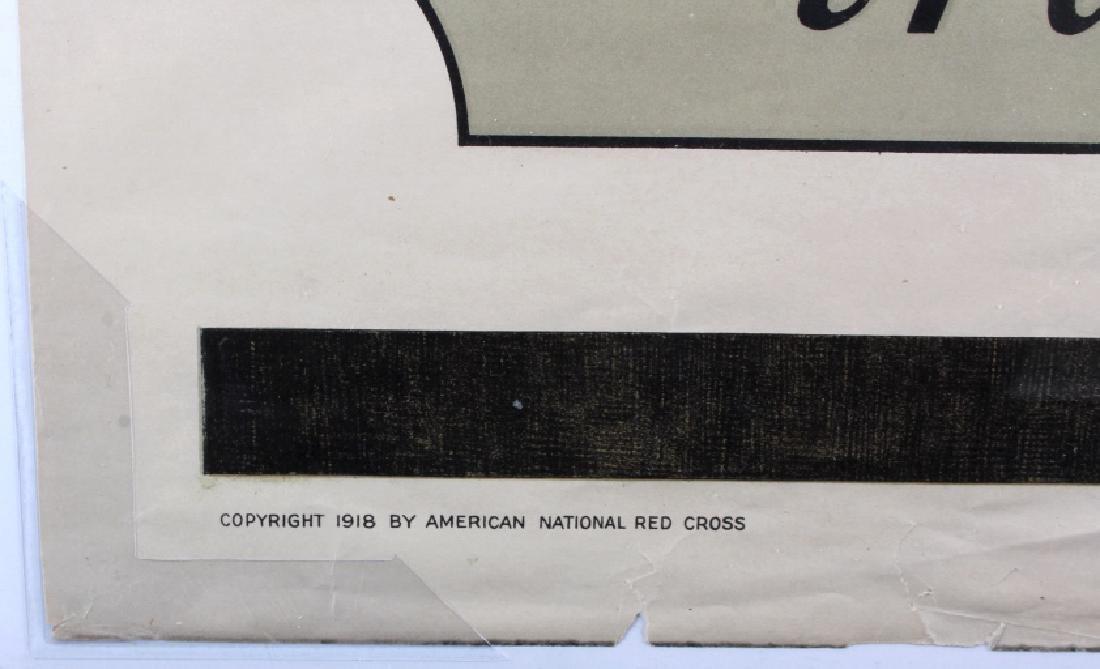 Original WWI American Red Cross Poster - 10