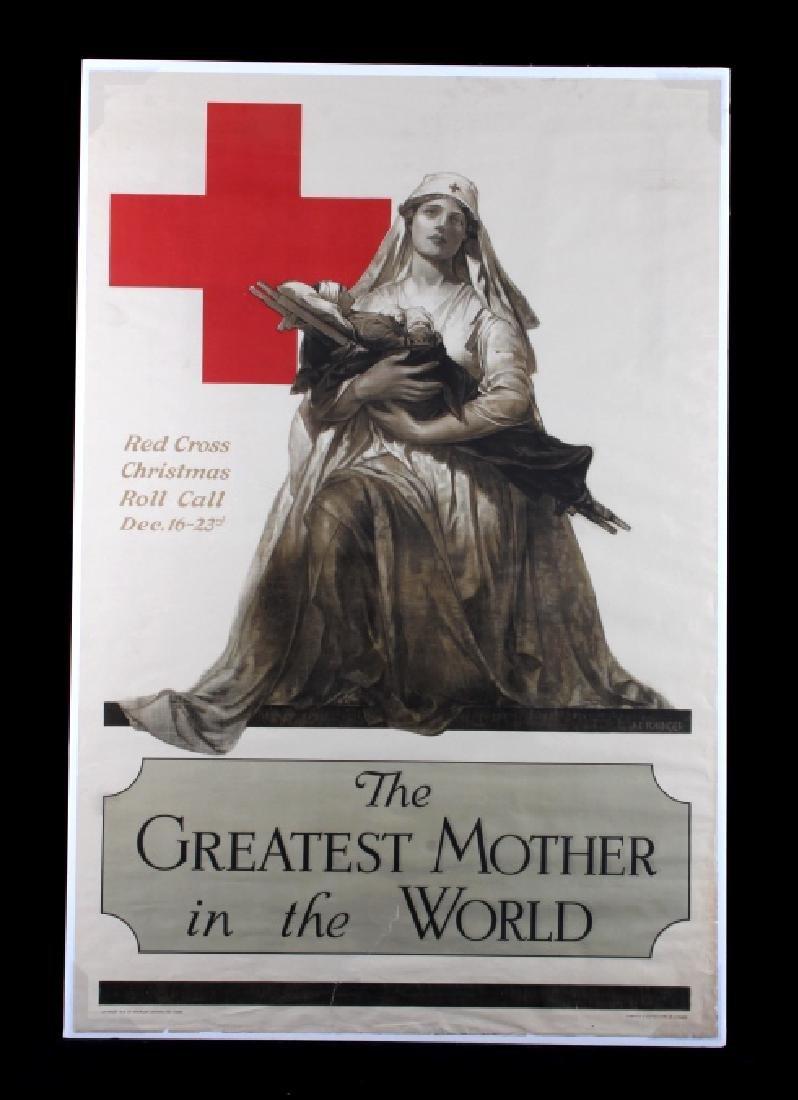 Original WWI American Red Cross Poster - 12