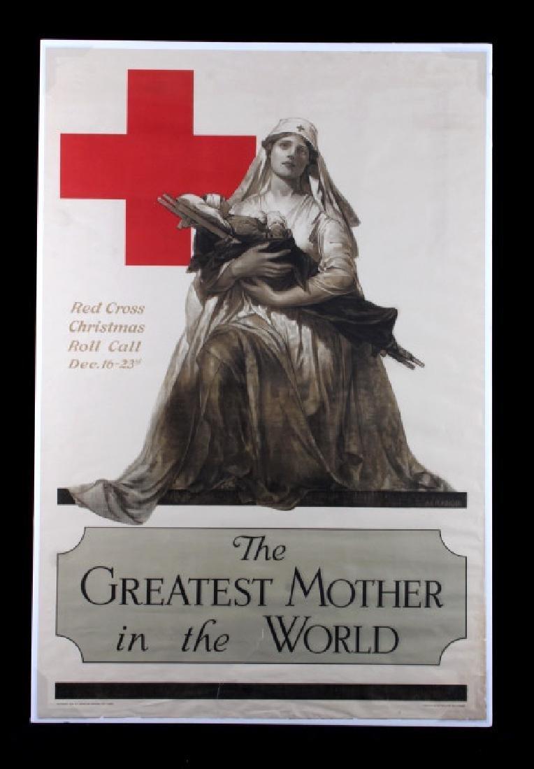 Original WWI American Red Cross Poster