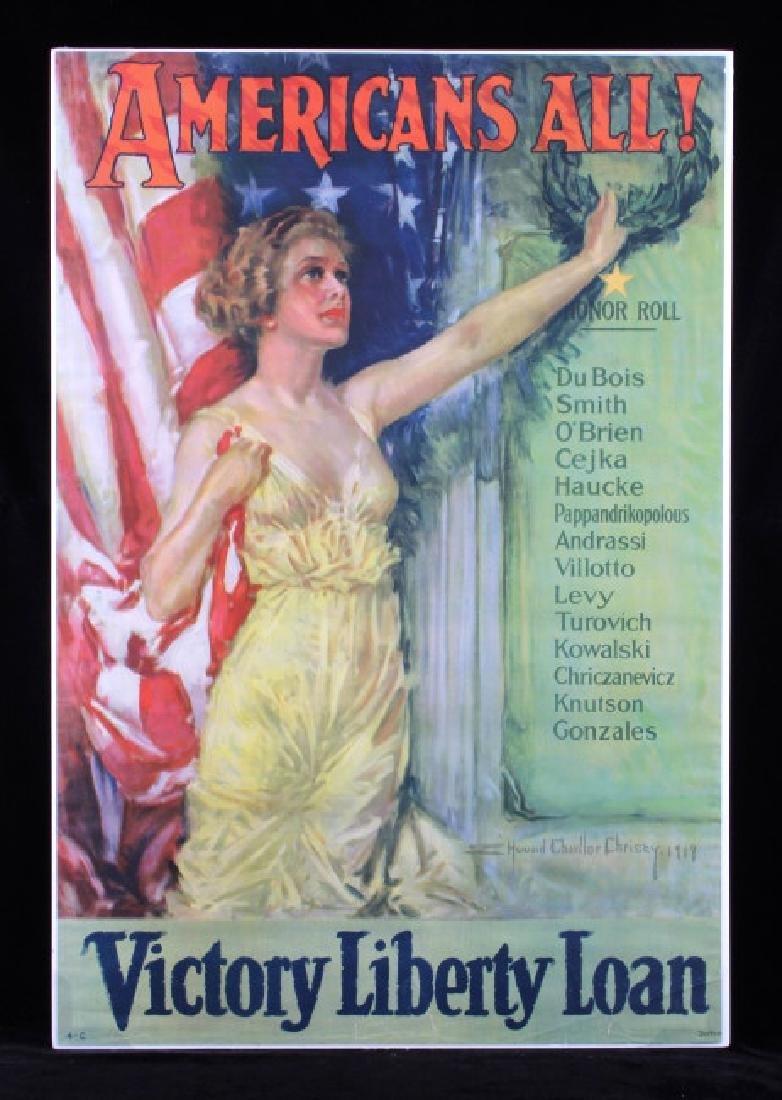Original WWI Victory Liberty Loan War Bond Poster
