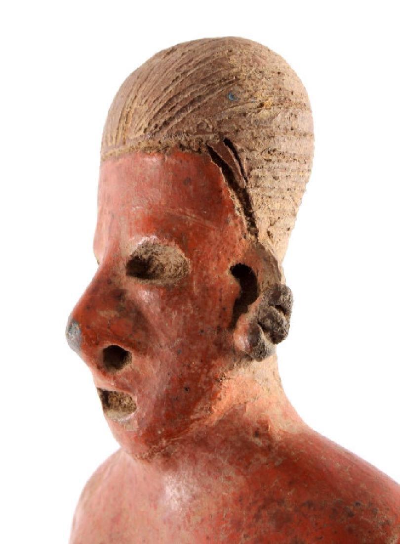 Pre-Columbian Mayan Pottery Figure circa 500 A.D. - 5