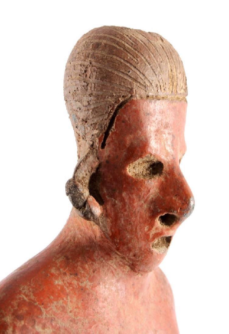 Pre-Columbian Mayan Pottery Figure circa 500 A.D. - 6