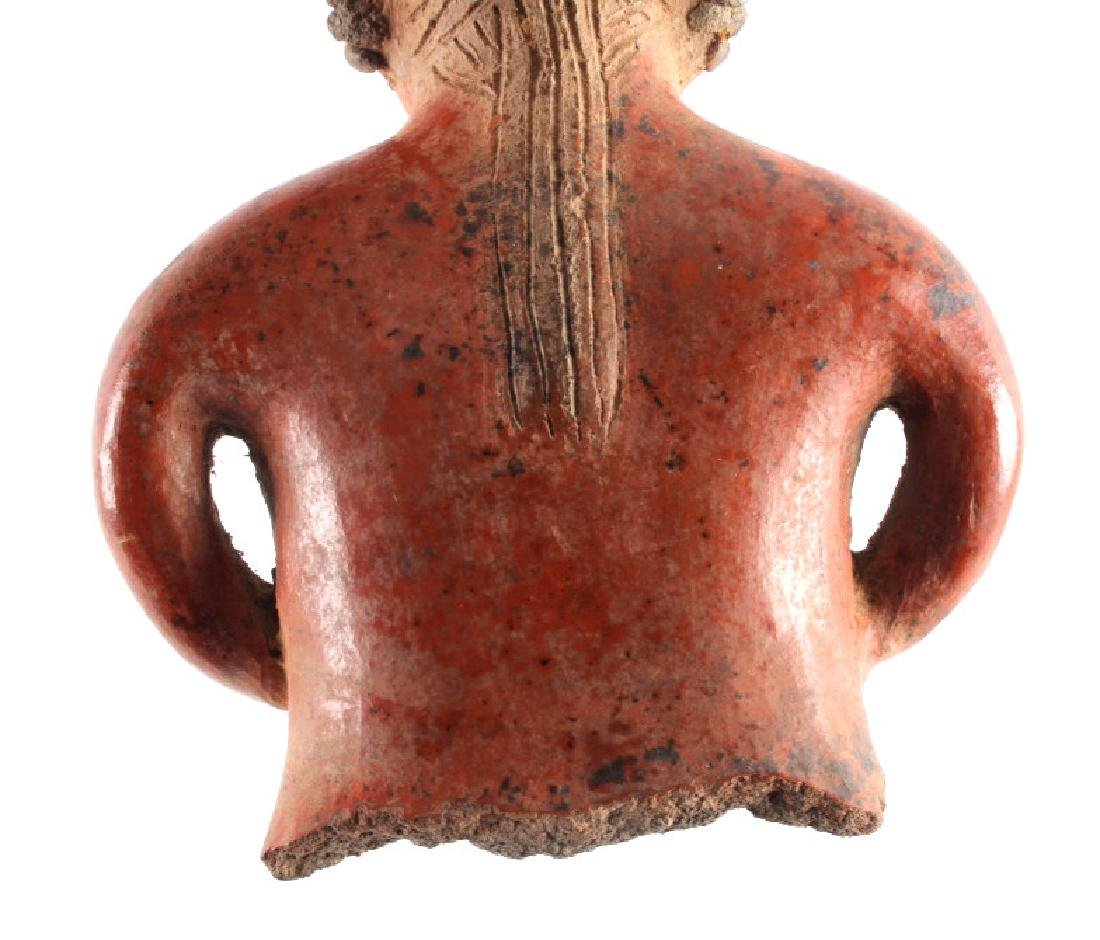 Pre-Columbian Mayan Pottery Figure circa 500 A.D. - 9