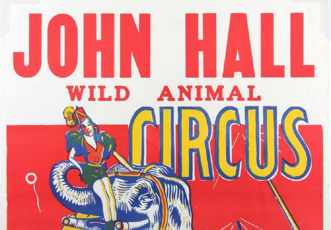 Original John Hall Wild Animal Circus Poster - 2