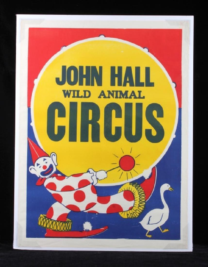 Original John Hall Wild Animal Circus Poster - 7