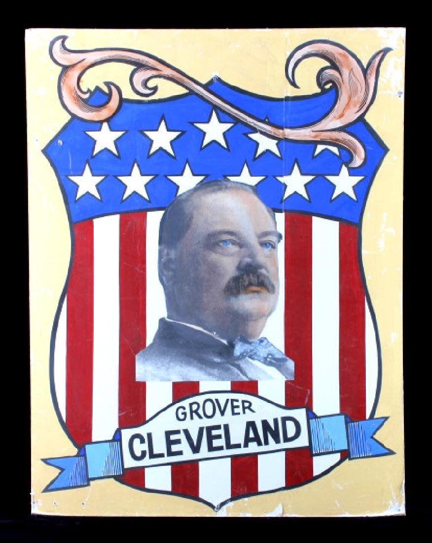 Grover Cleveland Campaign Folk Art Poster