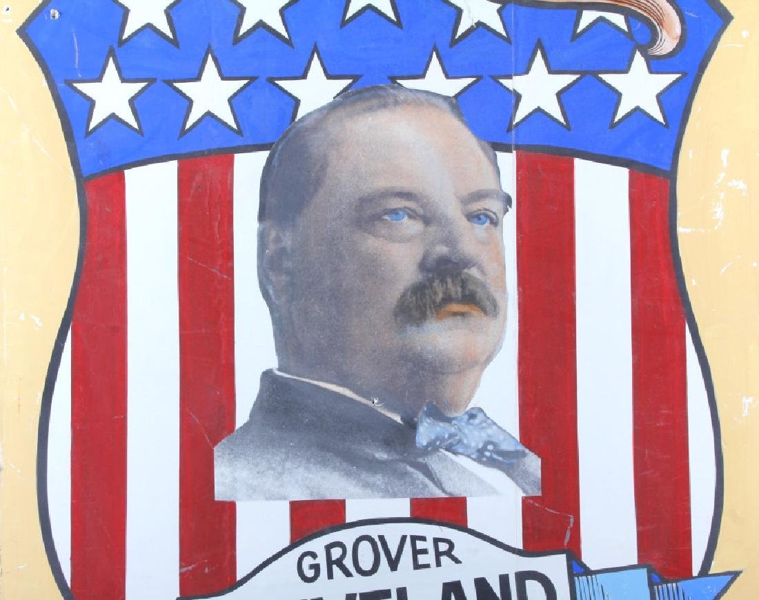 Grover Cleveland Campaign Folk Art Poster - 2