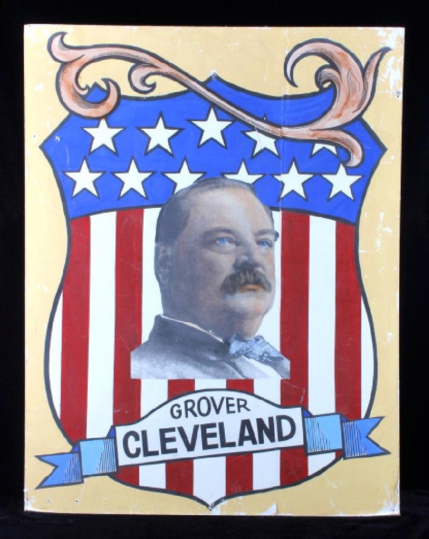 Grover Cleveland Campaign Folk Art Poster - 9