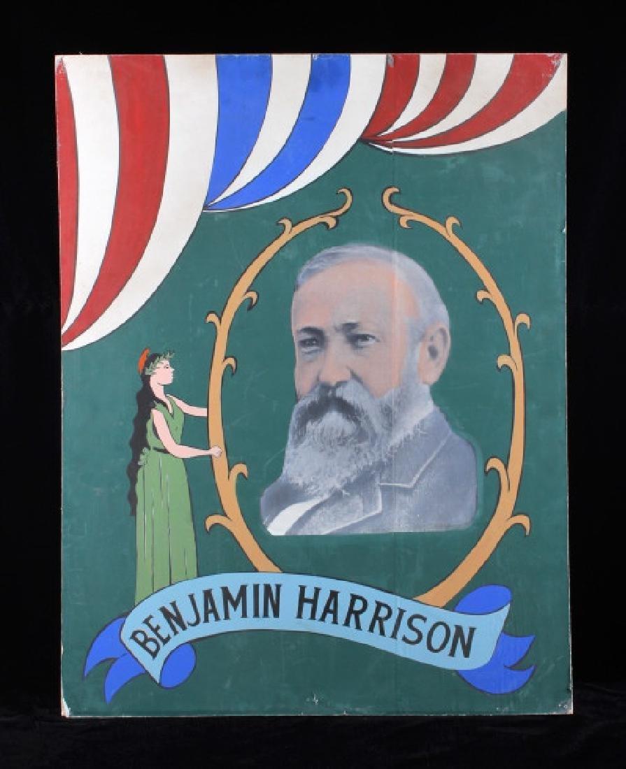 Benjamin Harrison Campaign Folk Art Poster