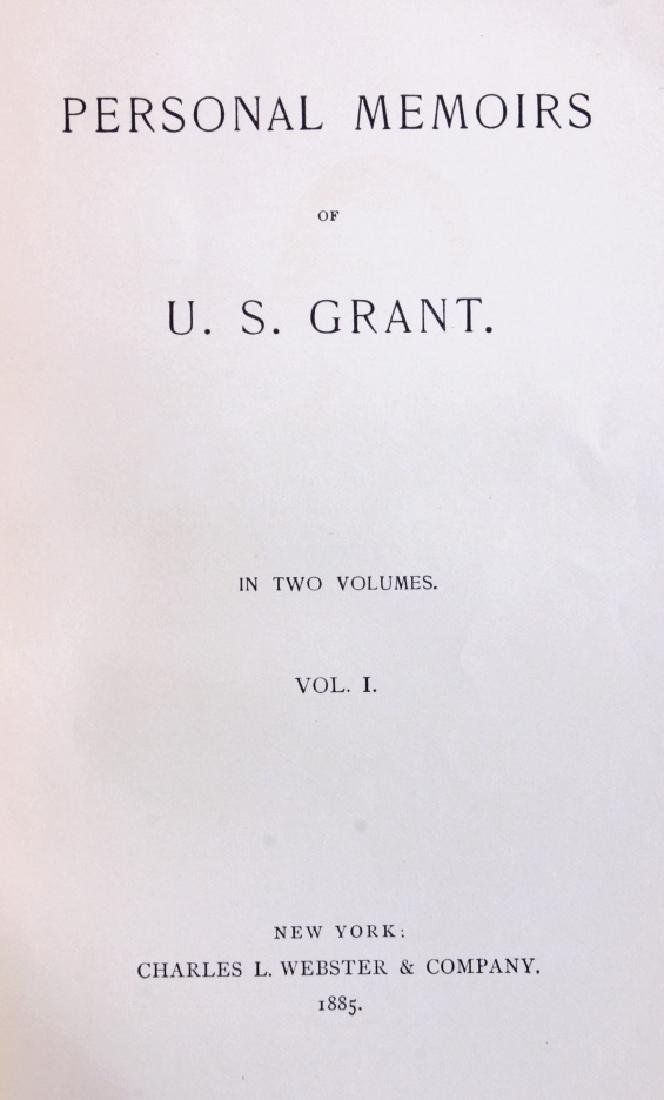 1885 Personal Memoirs of U.S. Grant First Edition - 2