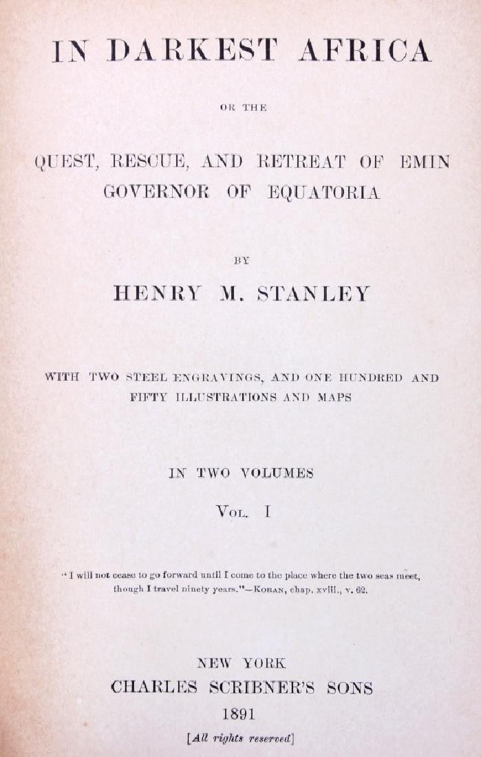 In Darkest Africa By H.M. Stanley First Ed. 1890 - 2