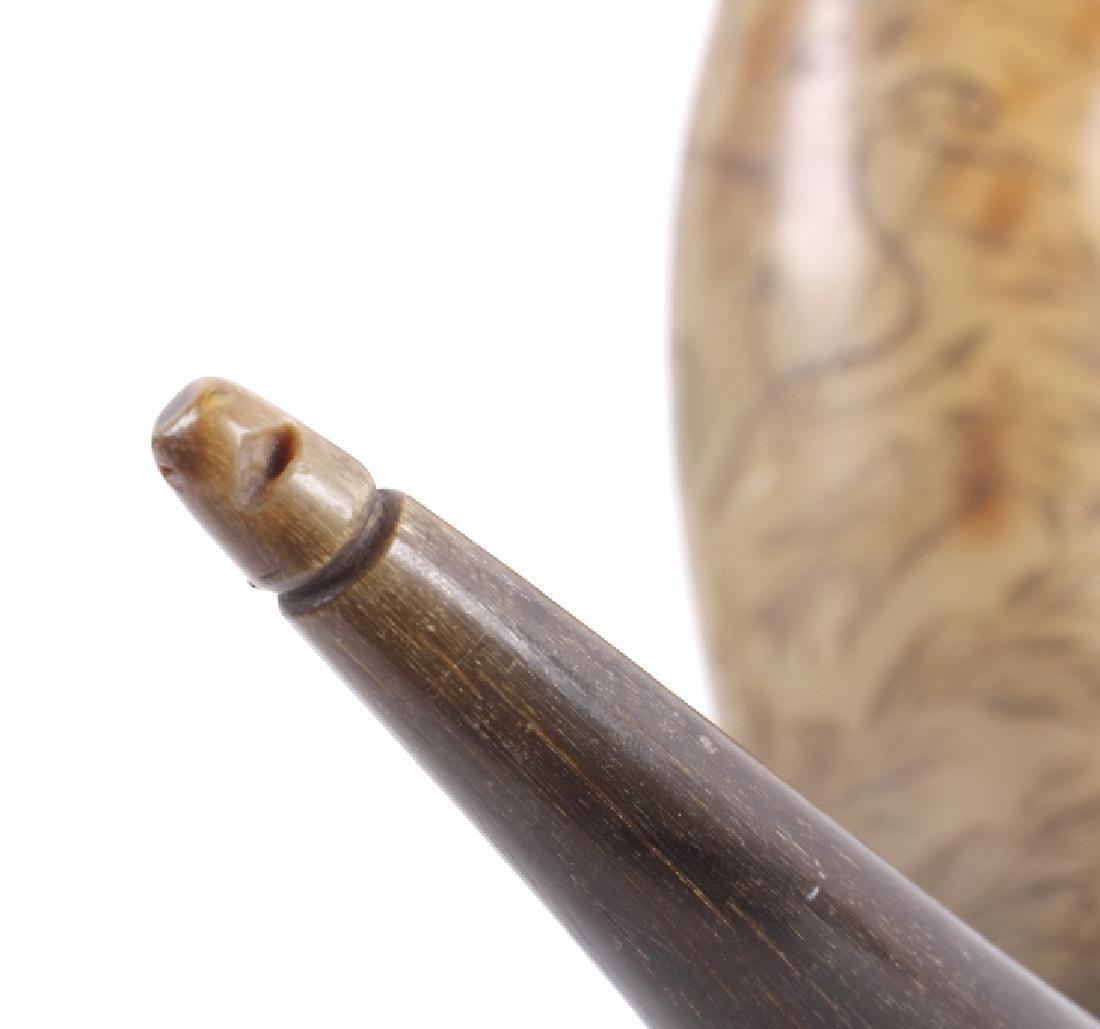 Exceptional Scrimshaw Steer Horn - 4