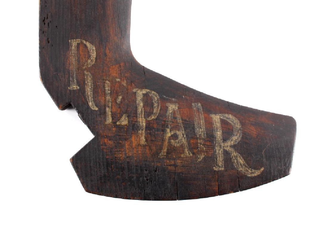C.1890 Boot Repair Trade Sign from Belfry Montana - 3