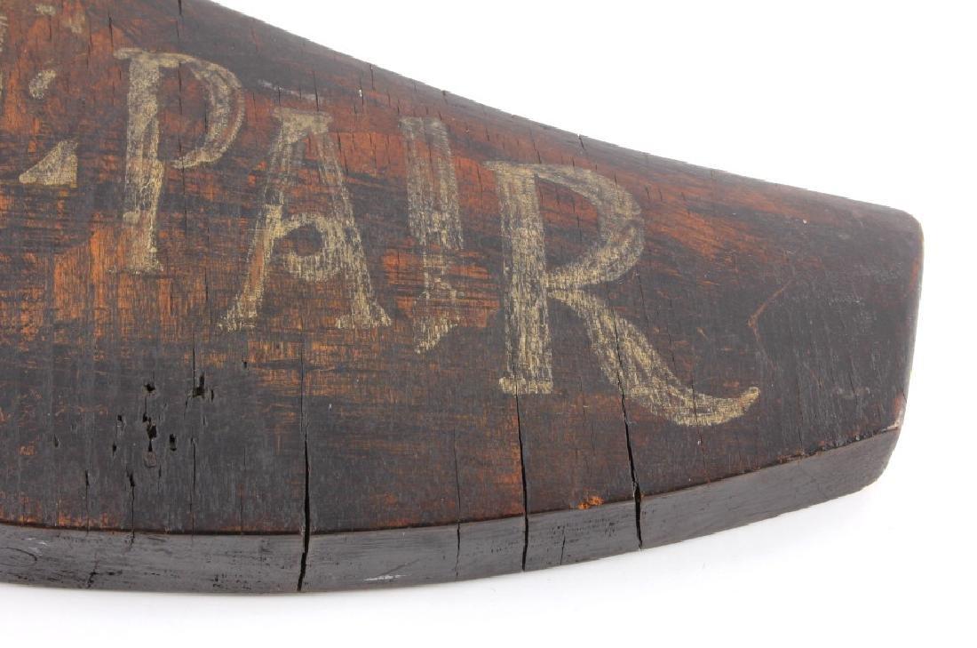 C.1890 Boot Repair Trade Sign from Belfry Montana - 5