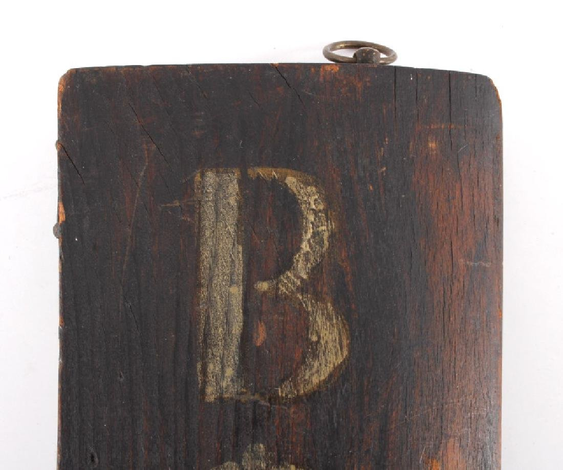 C.1890 Boot Repair Trade Sign from Belfry Montana - 6