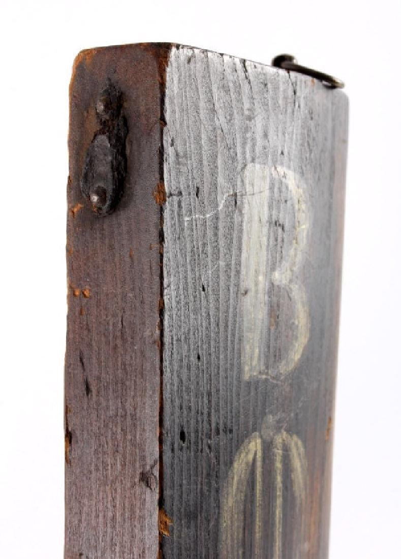 C.1890 Boot Repair Trade Sign from Belfry Montana - 8