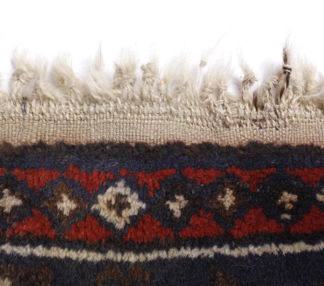 Pakistani Baluchi Hand-Knotted Runner Wool Rug - 3
