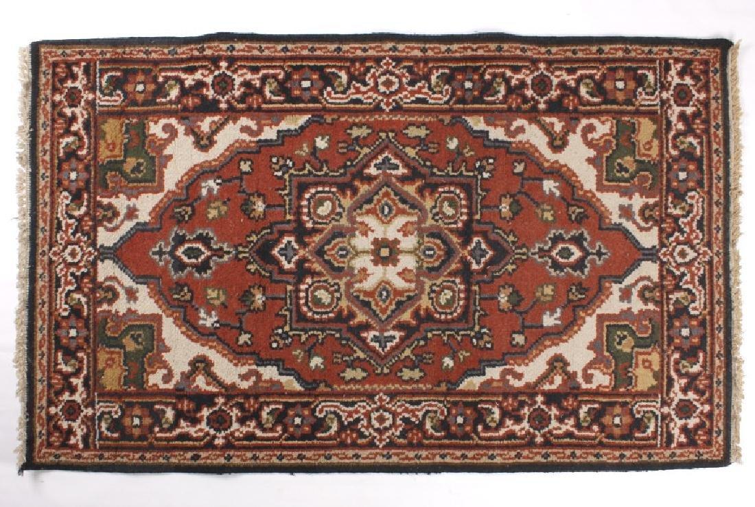 Persian Bijar Medallion Pattern Wool Rug