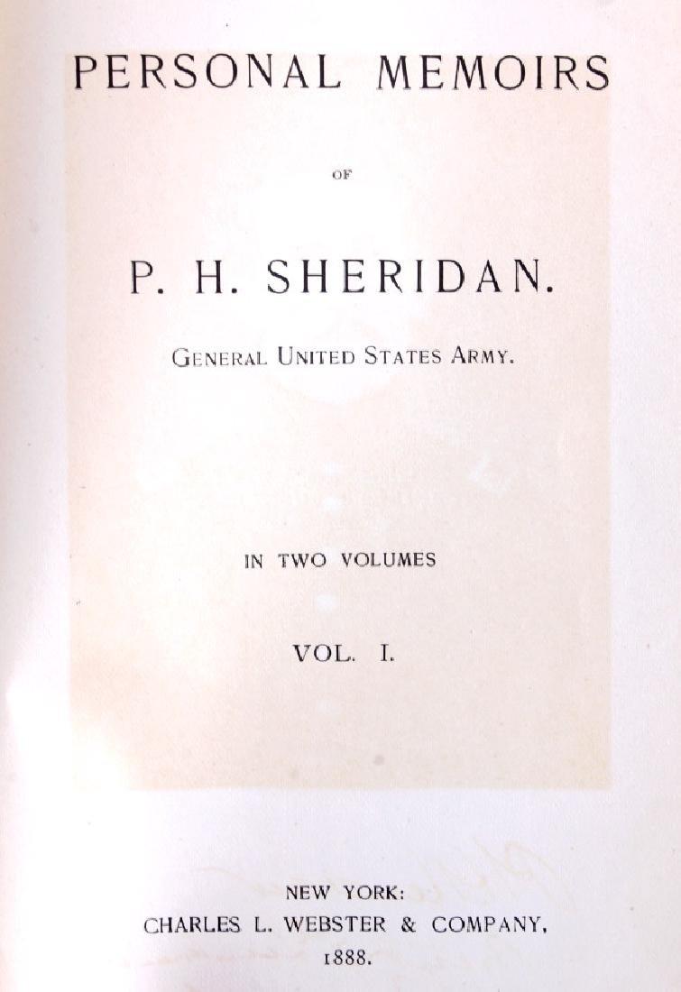 Personal Memoirs of P.H. Sheridan 1st Ed. 1888 - 2