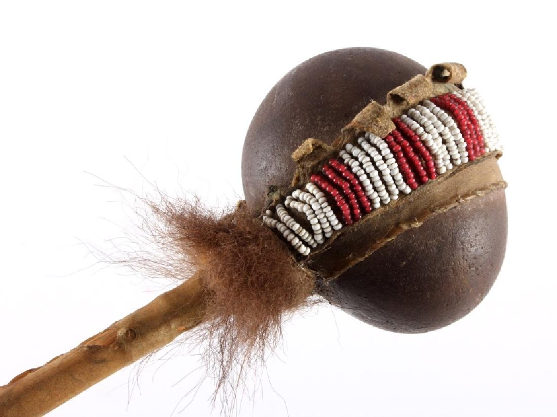 Northern Plains Beaded Stone War Club c.1900 - 2