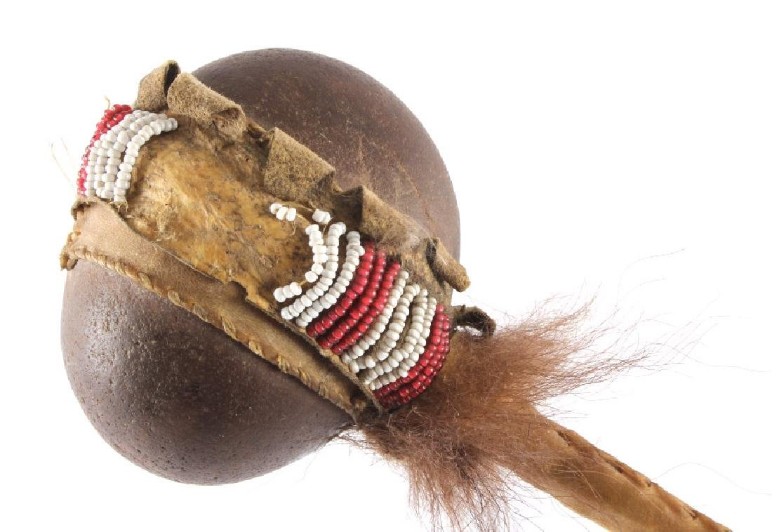 Northern Plains Beaded Stone War Club c.1900 - 3
