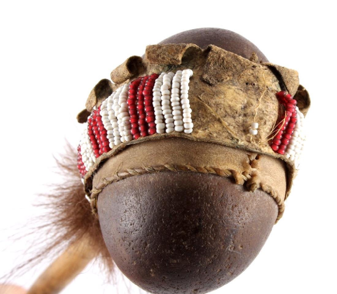 Northern Plains Beaded Stone War Club c.1900 - 4