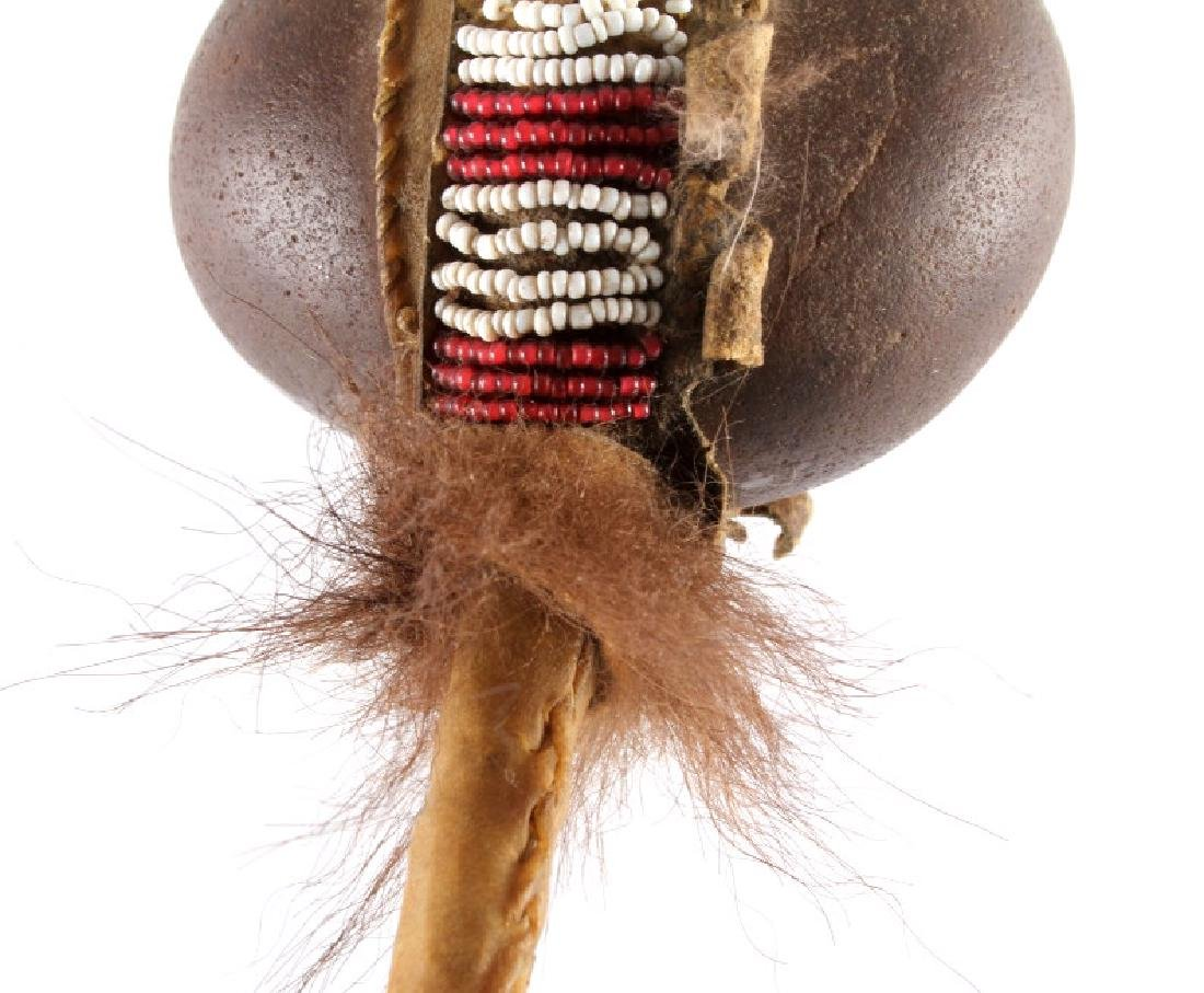 Northern Plains Beaded Stone War Club c.1900 - 5