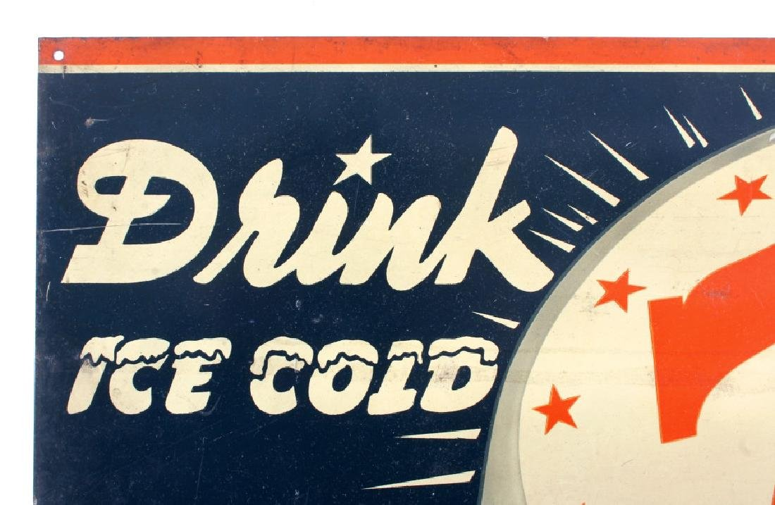 Drink Ice Cold 76 Tin Advertising Sign - 3