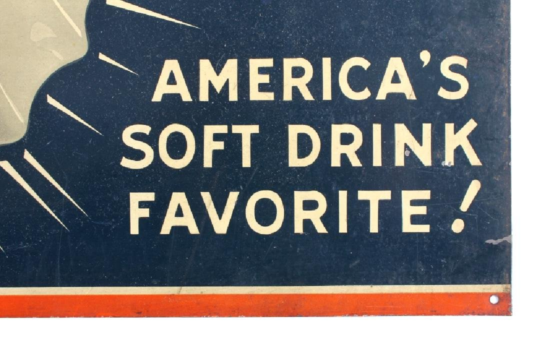 Drink Ice Cold 76 Tin Advertising Sign - 4