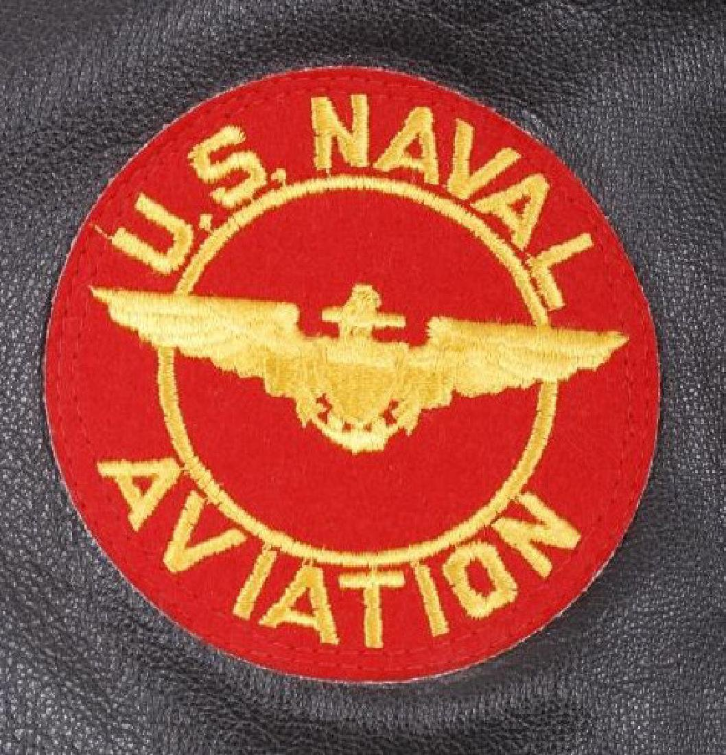 Excelled Vietnam Era US Navy Pilots Bomber Jacket - 5
