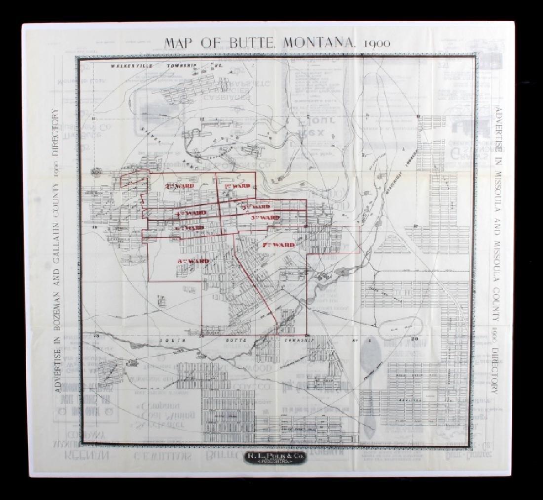 1900 Polk Directory Butte Montana Map