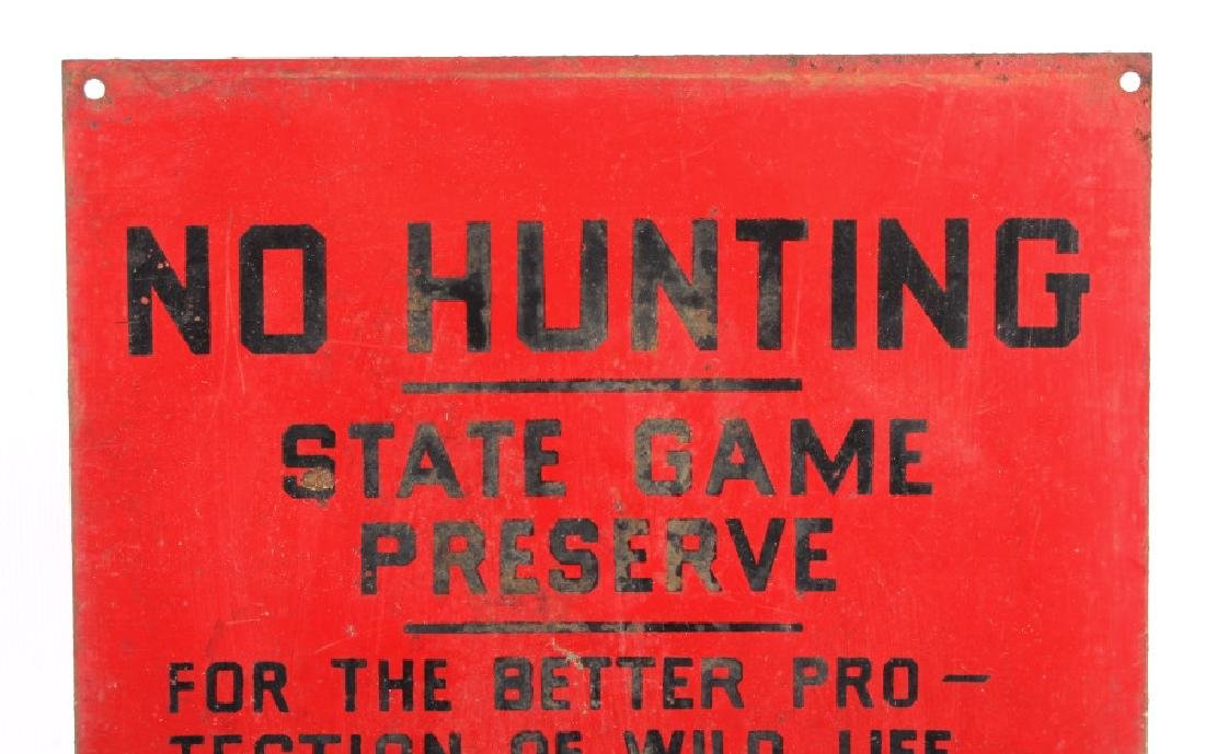 Original Montana Fish and Game Commission Sign - 2
