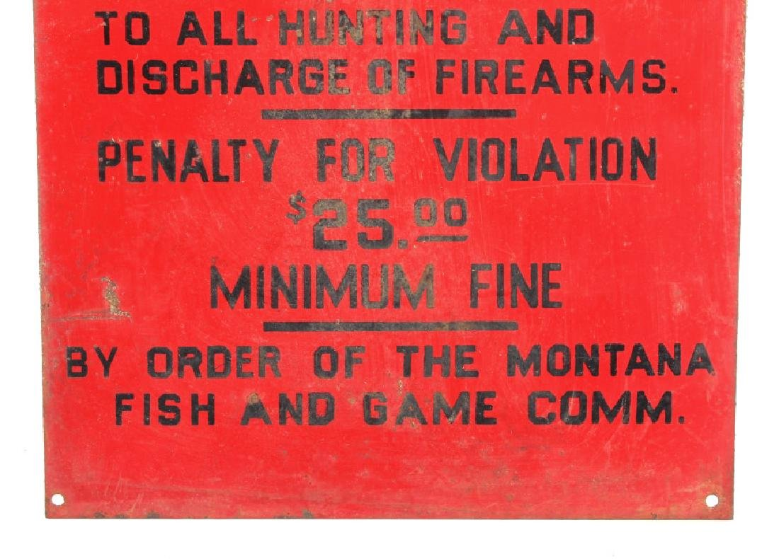 Original Montana Fish and Game Commission Sign - 4