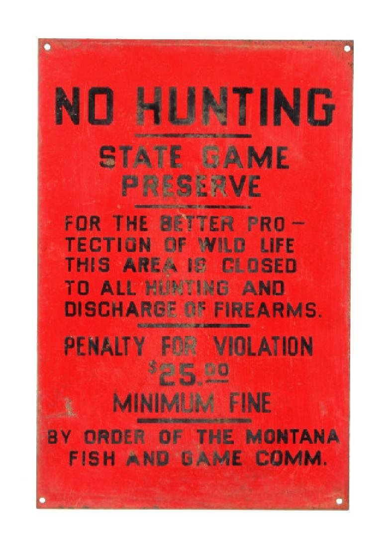 Original Montana Fish and Game Commission Sign - 8