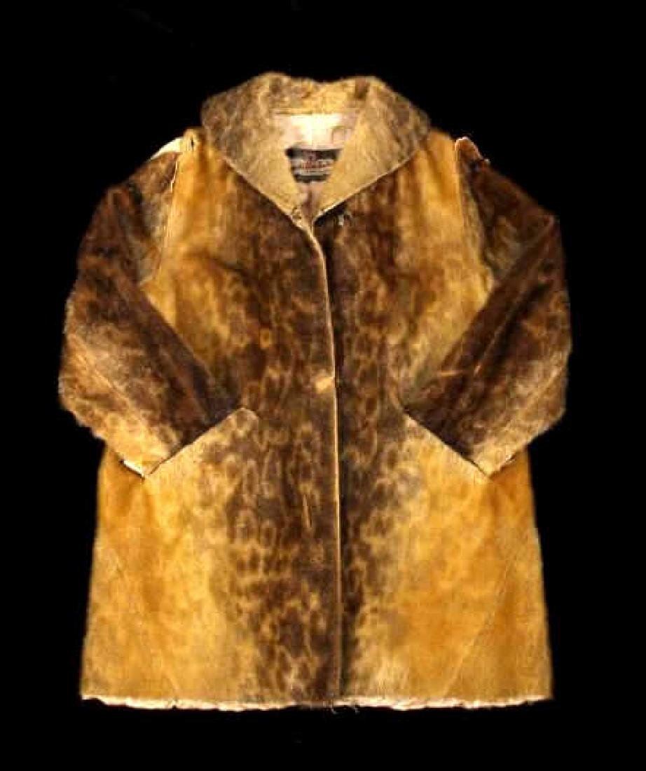 Early Martin Victor Fur Leopard Seal Skin Coat