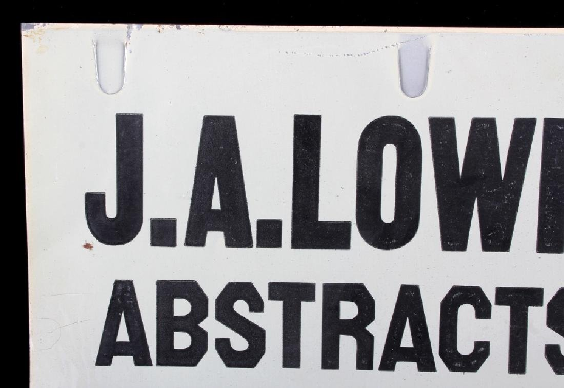 J.A. Lowry Sign from Big Timber Montana - 3