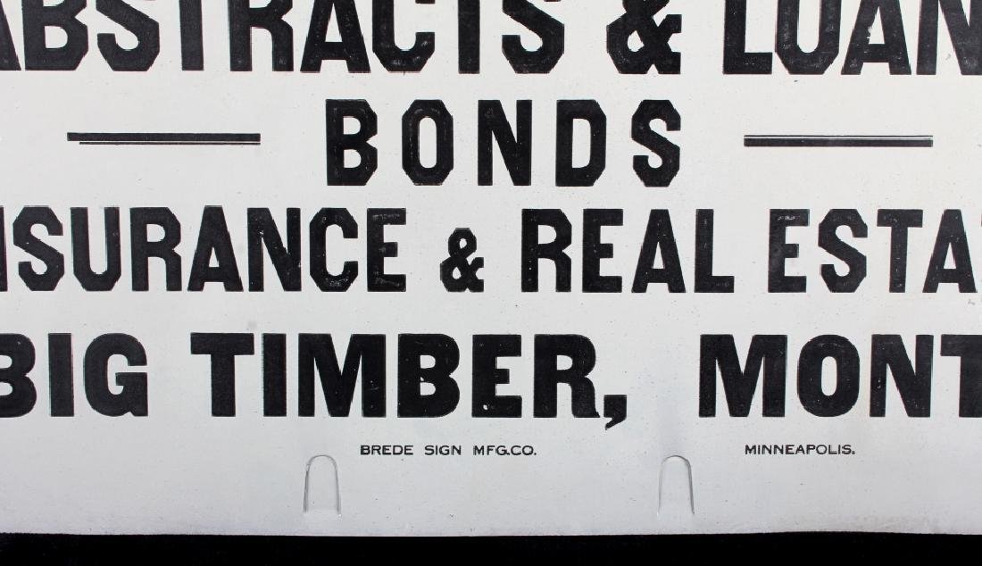 J.A. Lowry Sign from Big Timber Montana - 5